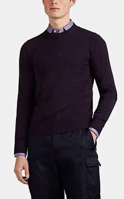 Prada Men's Cashmere Crewneck Sweater - Purple