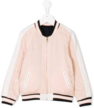 Chloé Kids ribbed bomber jacket