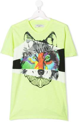 John Galliano TEEN wolf print T-shirt