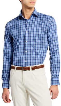 1492059b021 Peter Millar Men s Churchill Block Check Woven Shirt