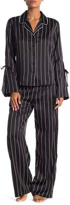 Shimera Satin Tie PJ Set