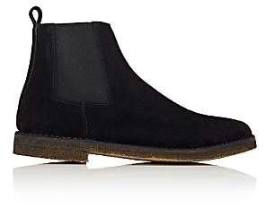 Barneys New York MEN'S CREPE-SOLE CHELSEA BOOTS-BLACK SIZE 7 M