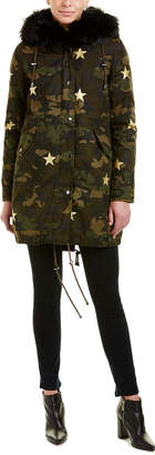 Jocelyn Camouflage Star Coat