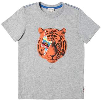 Paul Smith Tiger Print Cotton Jersey T-Shirt