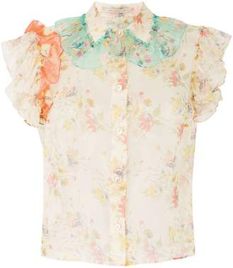 Christopher Kane ruffle archive floral shirt