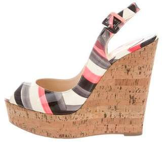 9ab12245029 Pre-Owned at TheRealReal · Christian Louboutin Slingback Wedge Sandals