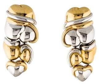 Gioia 18K Heart Cluster Drop Earrings