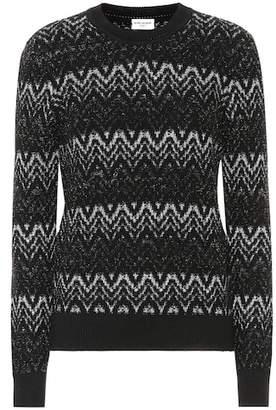 Saint Laurent Zigzag wool-blend sweater