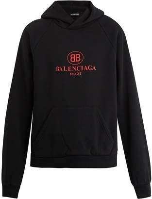 Balenciaga BB-print hooded sweatshirt