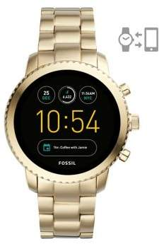 Fossil Q Explorist Stainless Steel Touchscreen Smartwatch