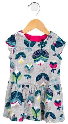 Catimini Girls' Printed Matelassé Dress
