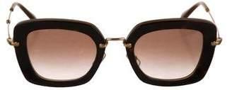 Miu Miu Square Gradient Sunglasses