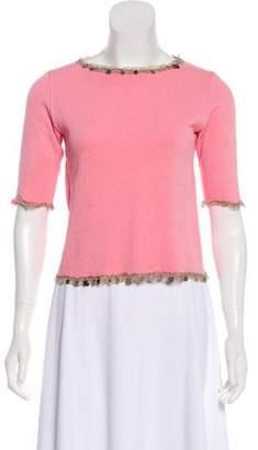 Fendi Embellished Knit Top