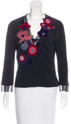 Cacharel Embroidered Silk Blouse