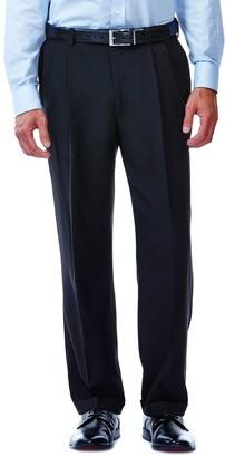 Haggar Mens J.M. Premium Classic-Fit Pleat-Front Stretch Suit Pants