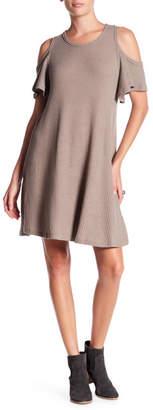 Anama Ruffle Cold Shoulder Dress