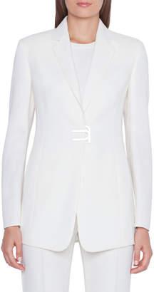Akris Alpha Long Magnetic-Front Jacket