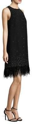 Aidan Mattox Feather Trim Dress