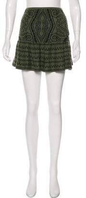 Torn By Ronny Kobo Mini Knit Skirt