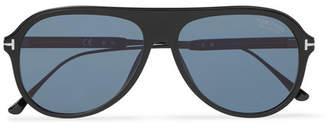 f4dcc73fd99 Tom Ford Nicholai Aviator-Style Acetate Polarised Sunglasses - Men - Black