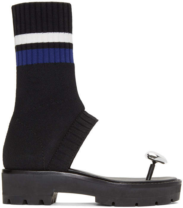 3.1 Phillip Lim Black Knitted Cat Sandals