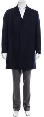Theory Notch-Lapel Virgin Wool Overcoat