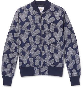 GoldenBear Golden Bear Pineapple-Print Textured-Cotton Bomber Jacket