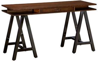 Pottery Barn Teen Customize It Open Core Desk with Metal A-Frame Legs Tuscan/Dark Iron