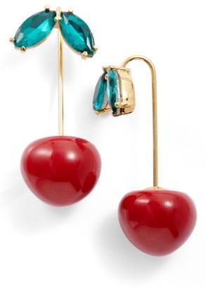 Women's Kate Spade New York Ma Cherie Cherry Threader Earrings $58 thestylecure.com