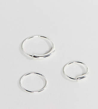 Pilgrim silver plated 3 pack stacking rings