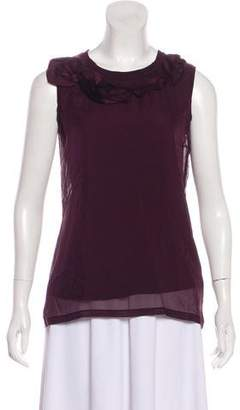 Lanvin Silk Embellished Sleeveless Top w/ Tags