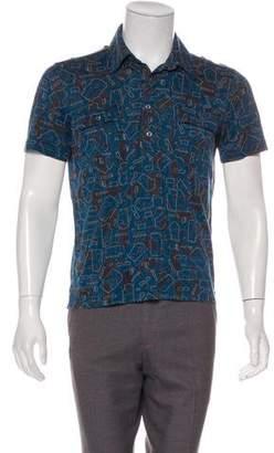Hermes Geometric Print Polo Shirt