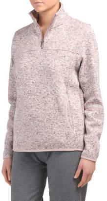 Juniors Quarter Zip Pullover Top