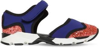 Glittered Neoprene Strap Sneakers