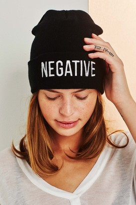 5d15772d0af Negative Underwear Merch Beanie in Black