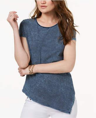 INC International Concepts I.N.C. Cotton Asymmetrical T-Shirt, Created for Macy's