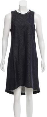 Brunello Cucinelli Denim Monili-Trimmed Dress