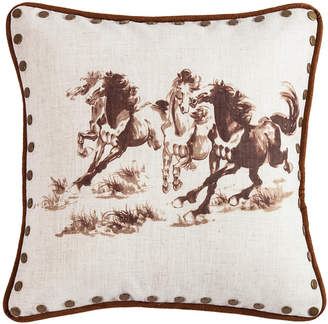 "Hiend Accents 18""x18"" Horse Pillow"