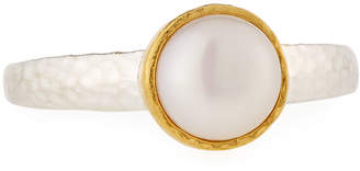 Gurhan Galapagos Round Freshwater Pearl Ring, Size 8 $95 thestylecure.com