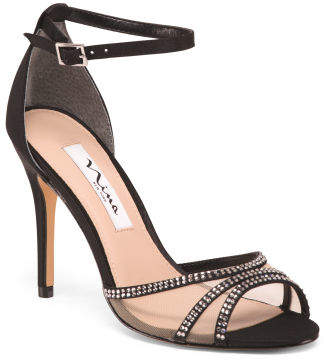 Ankle Strap Stiletto Heel Dress Sandals