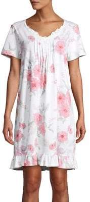 Carole Hochman Floral Short-Sleeve Nightgown