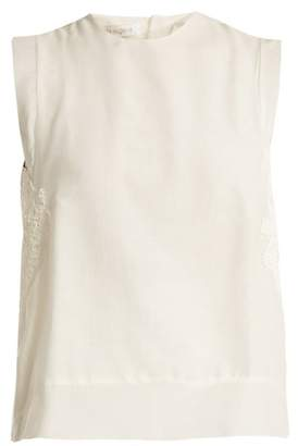 Lila Eugénie Lila Eugenie - 1841 Applique Embellished Cotton Blend Voile Top - Womens - White