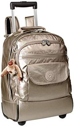 Kipling Sanaa Large Metallic Pewter Wheeled Backpack