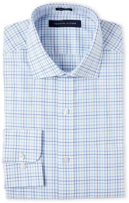 Isaac Mizrahi Deep Sea Check Regular Fit Dress Shirt