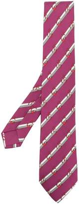 Hermes Pre-Owned anchor print striped tie
