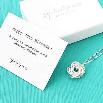 Sophie Jones Jewellery 70th Birthday Silver Necklace