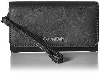 602f60ed443 Calvin Klein Saffiano Medium Size Flap Over Wristlet