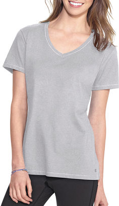 Champion Jersey Short-Sleeve V-Neck Tee $15 thestylecure.com