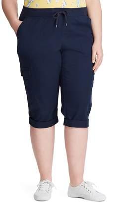 Chaps Women's Cotton Twill Capri Pants