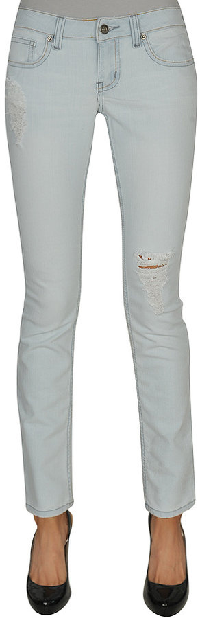 Bleached Skinny Ripped Jean